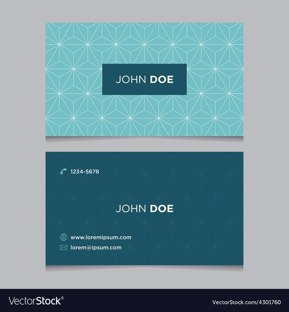 Business card pattern blue 12 Royalty Free Vector Image
