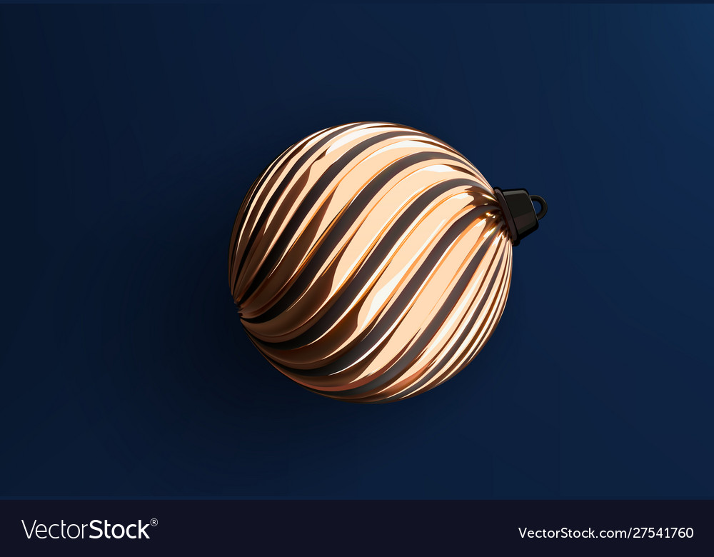 Christmas tree golden ball toy realistic