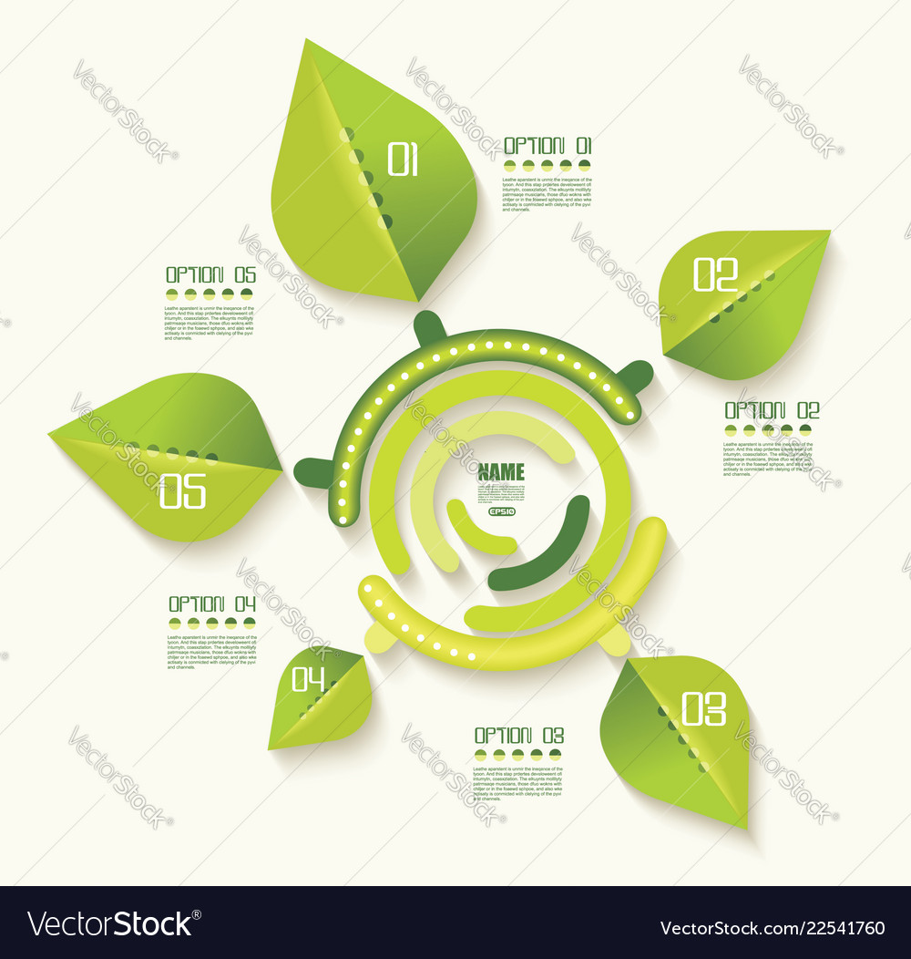 Eco infographics template set of graphic design