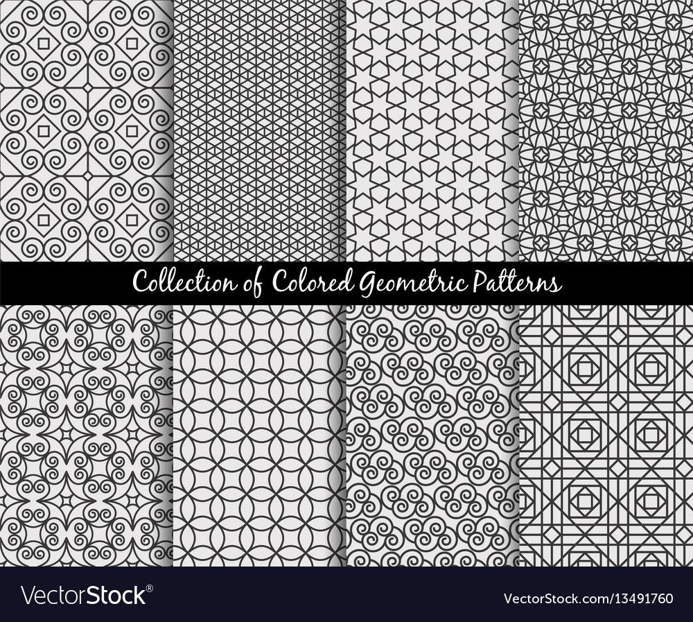 Ethnic decorative oriental patterns set