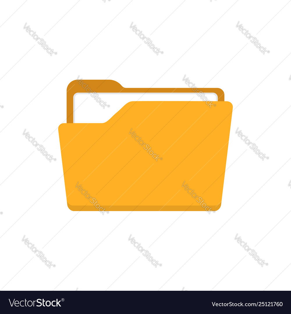 File folder icon in flat style documents archive