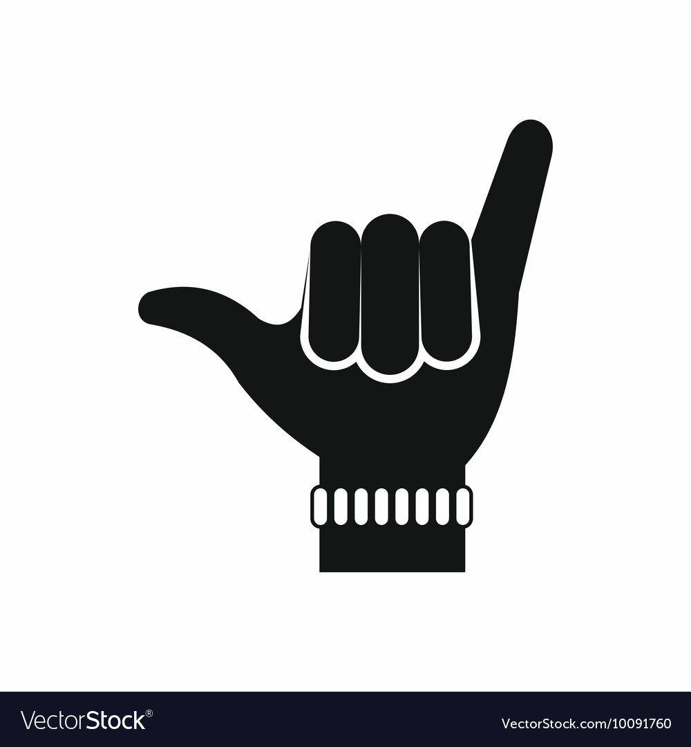 Gesture surfer icon simple style