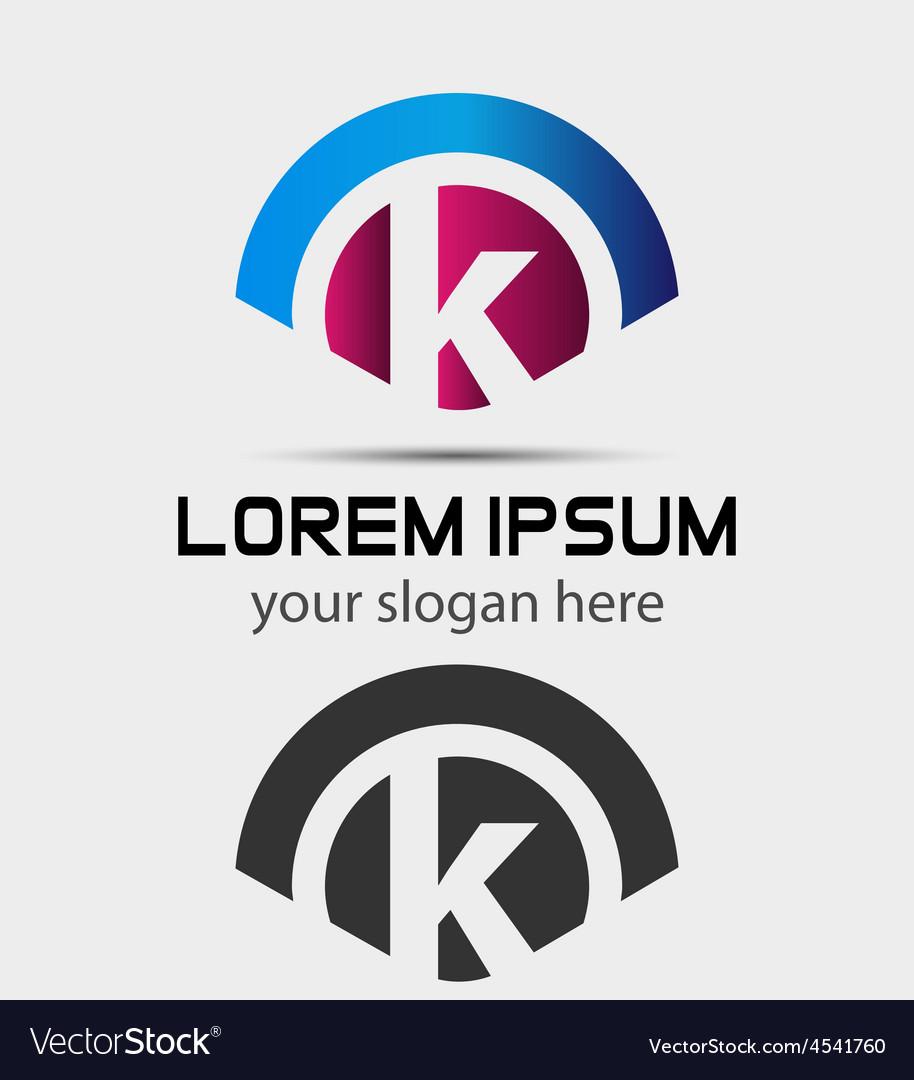 Letter K Logo Design Creative Symbol of letter K vector image