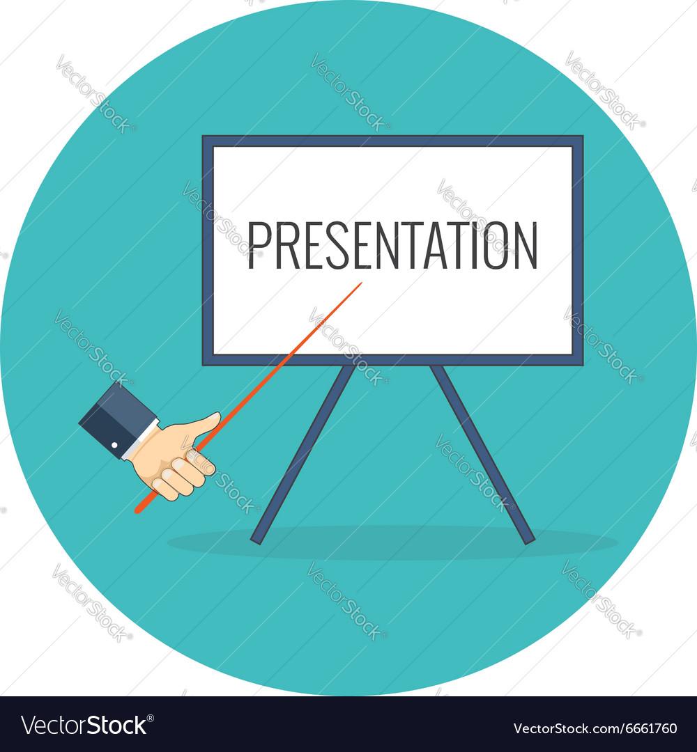 Presentation training seminar concept Flat design