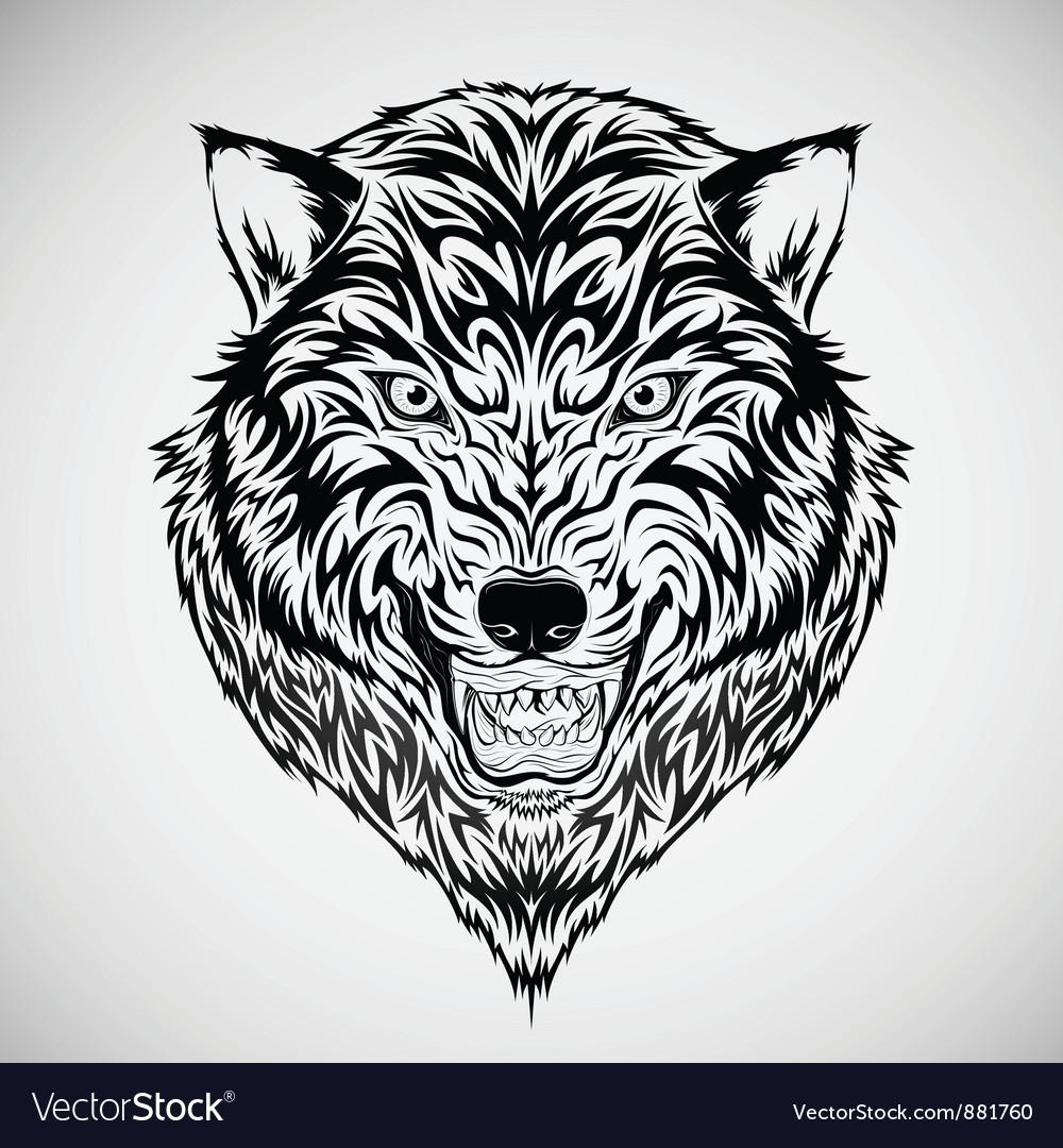 Wolf Tattoos on Tribal Wolf Head Tattoo Vector 881760 By Kuzzie
