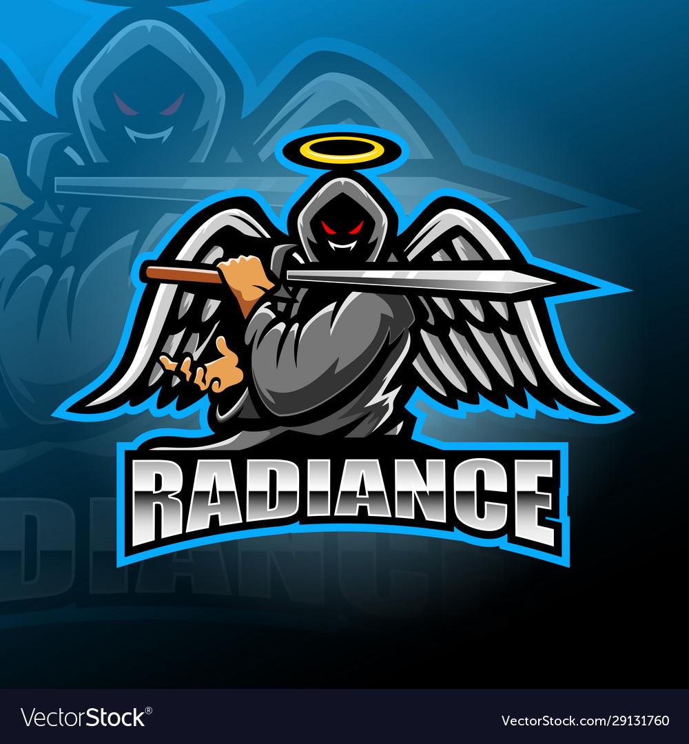 Warrior angel esport mascot logo design