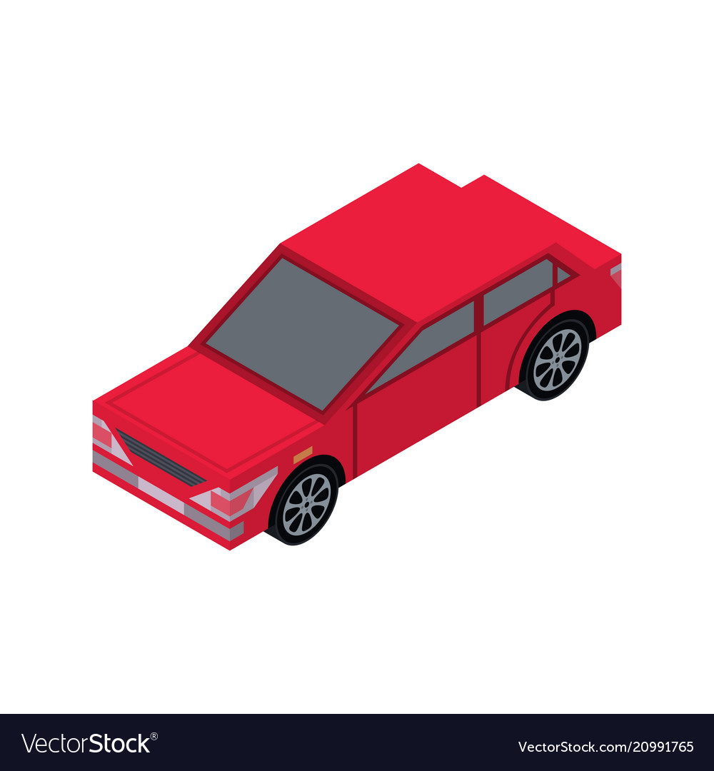 City sedan isometric 3d element