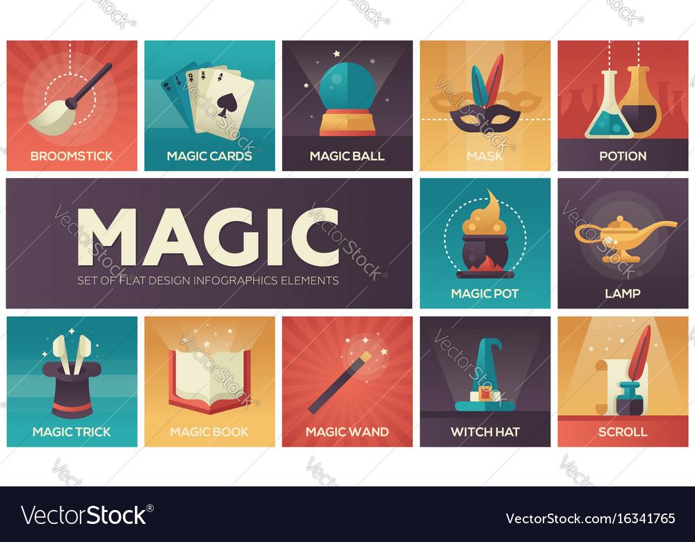 Magic - modern flat design icons set
