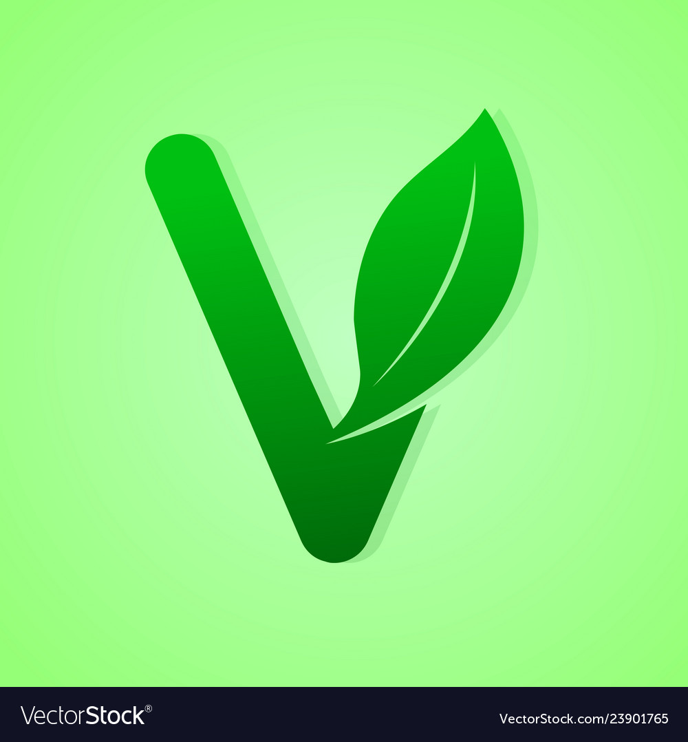 Nature lettering for green ecology logo
