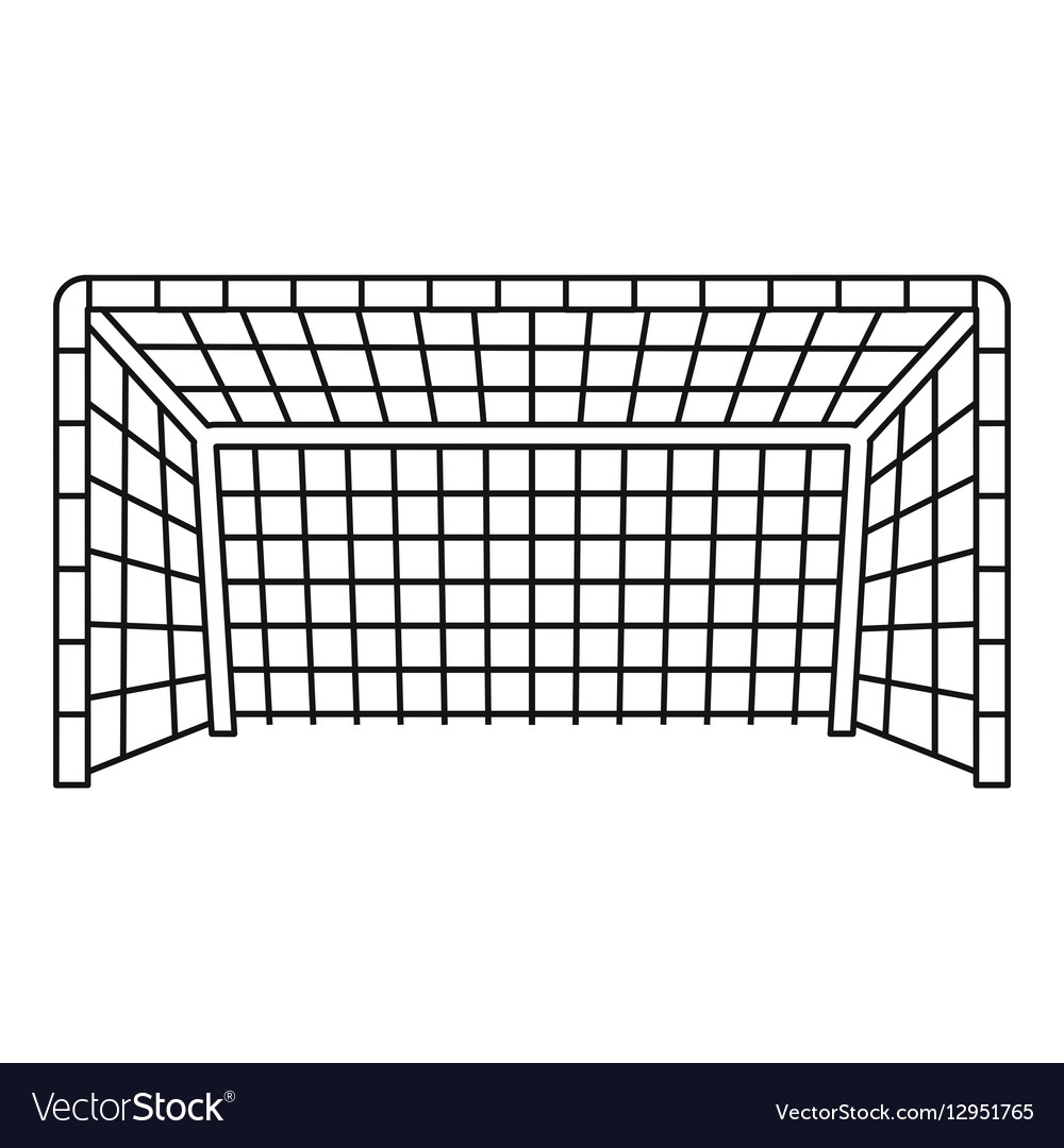 Soccer goal icon outline style