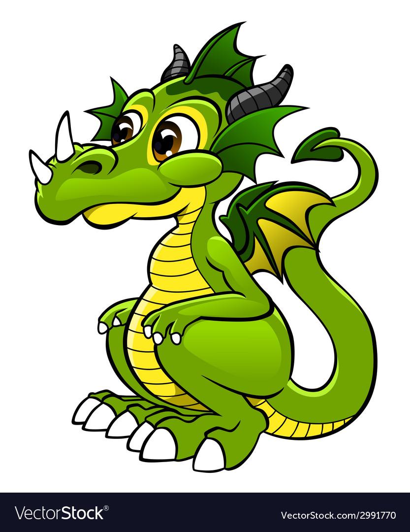 cute dragon royalty free vector image vectorstock