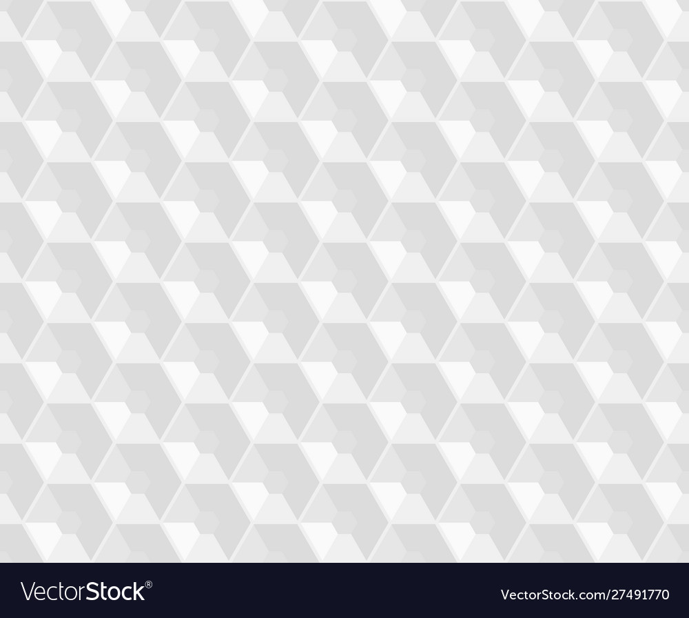 Hexagonal white embossed seamless pattern
