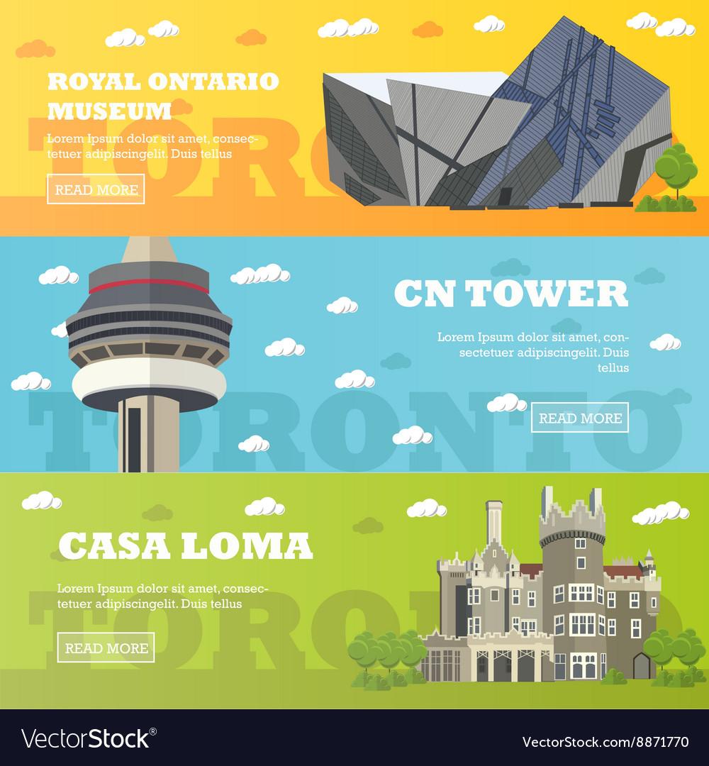 Toronto tourist landmark banners