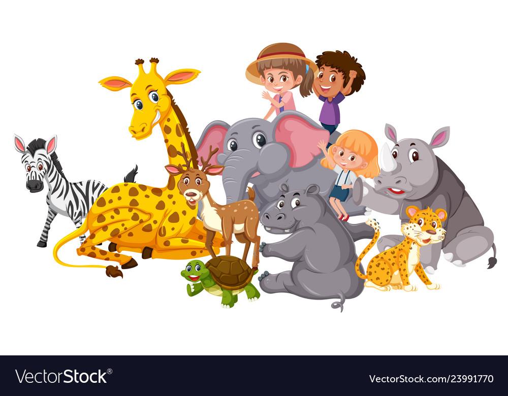Wild animals and children