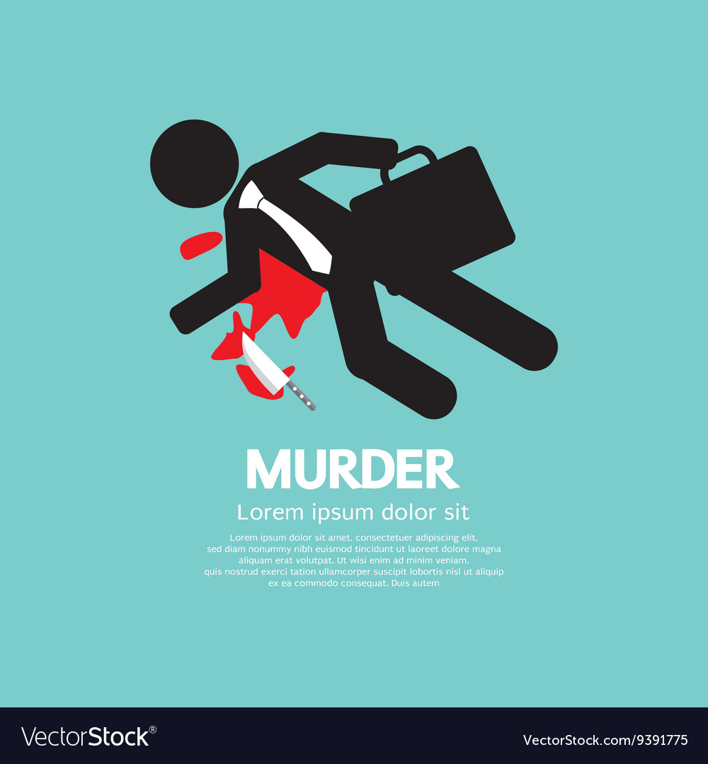 Businessman Is Dead By Murder vector image