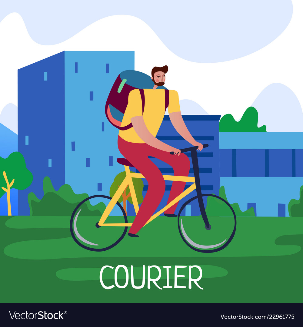 Courier service poster