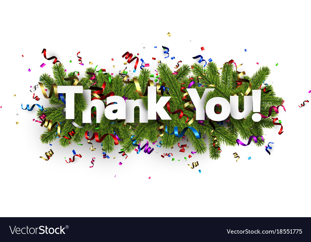 festive thank you background royalty free vector image