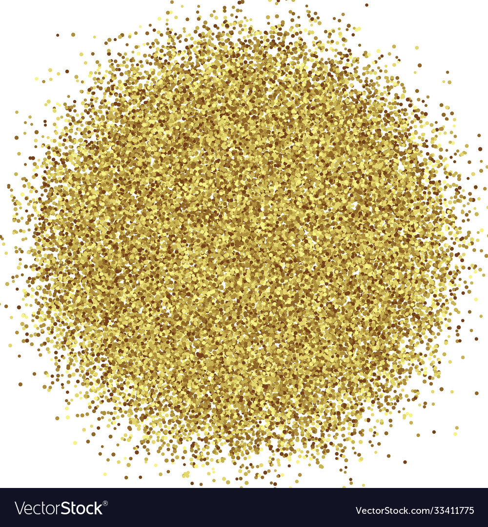 Gold foil glitter texture isolated