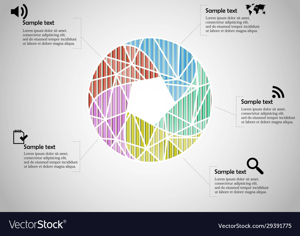 Infographic template with