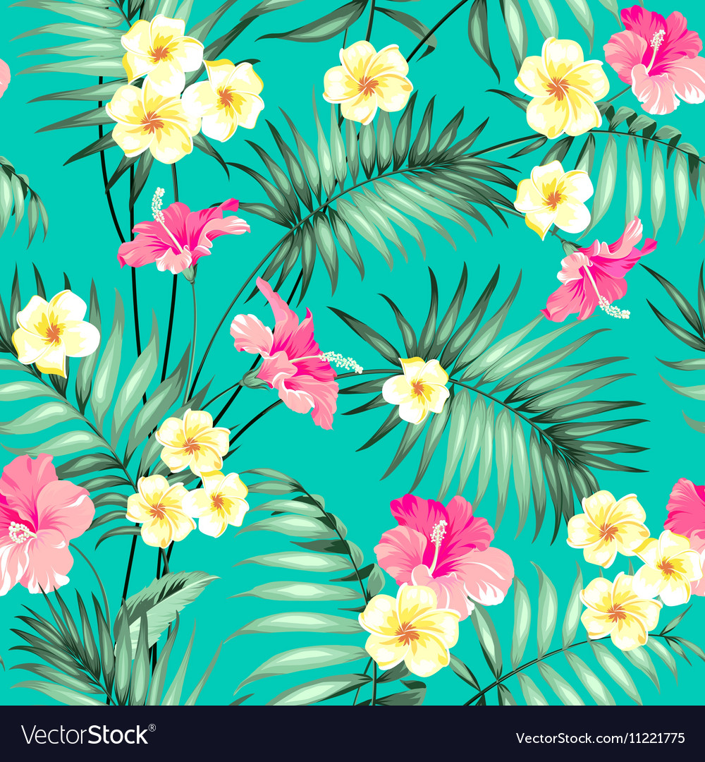 Tropical fabric design vector image