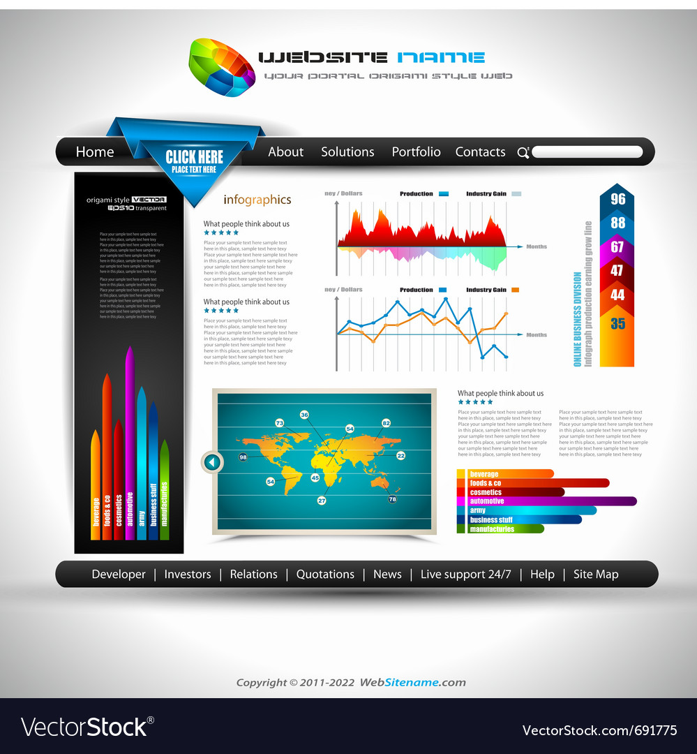 Website infographics