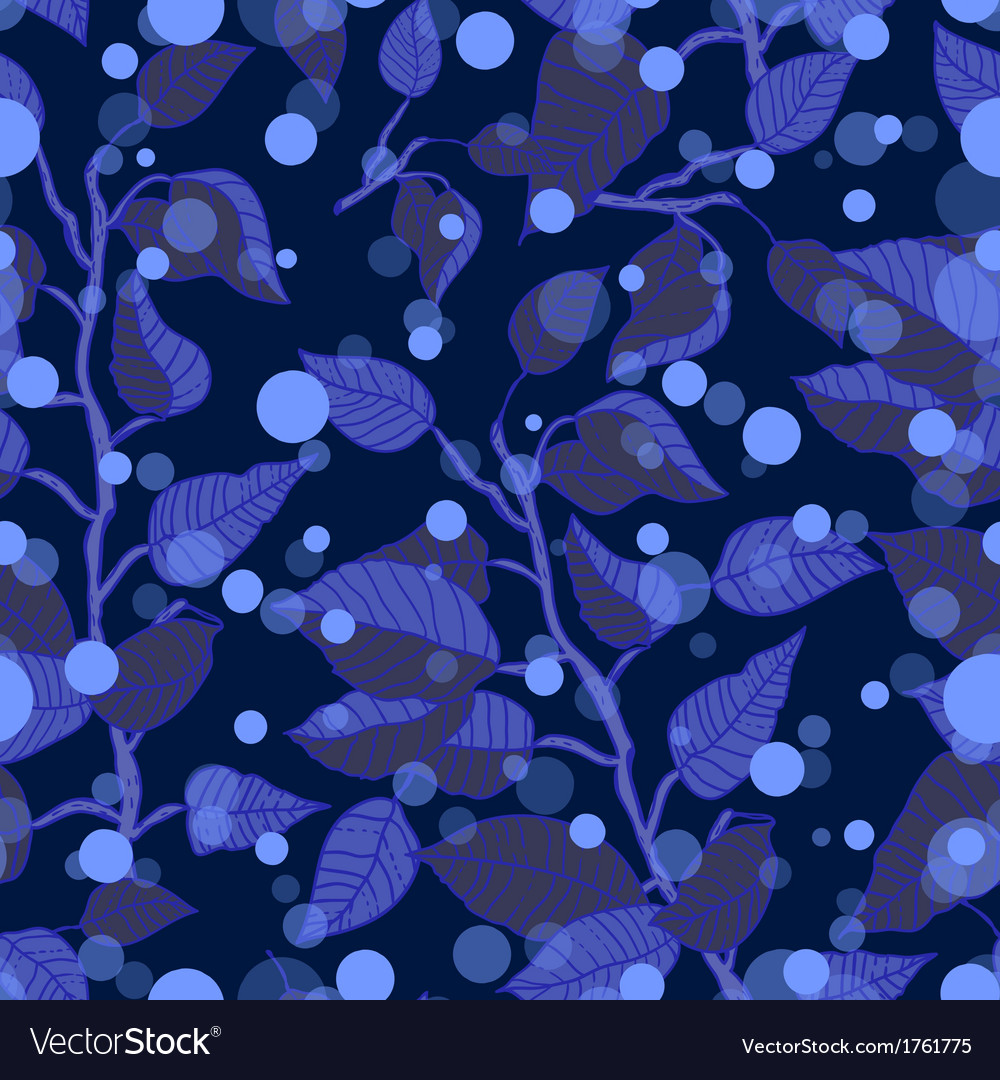 Winter seamless pattern with branches vector image