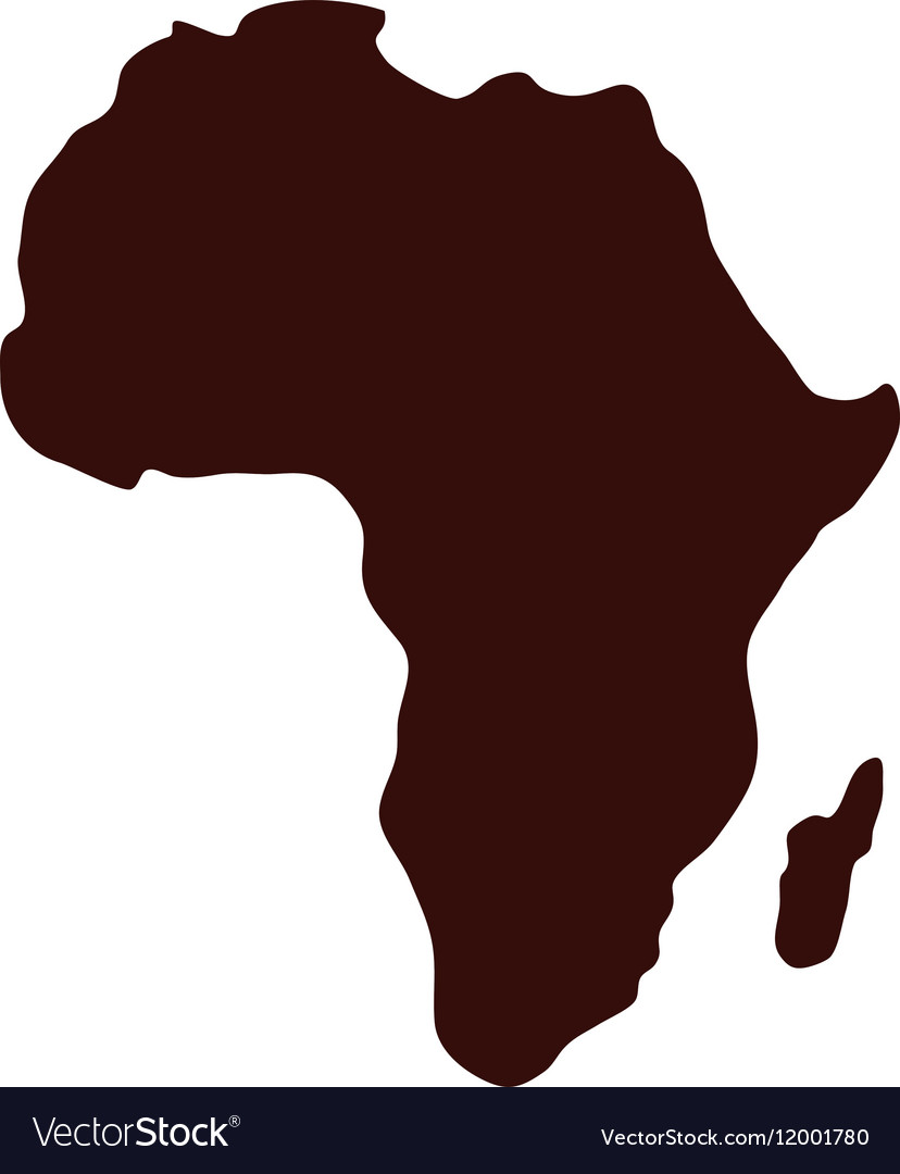 Africa Map Silhouette Africa map silhouette Royalty Free Vector Image