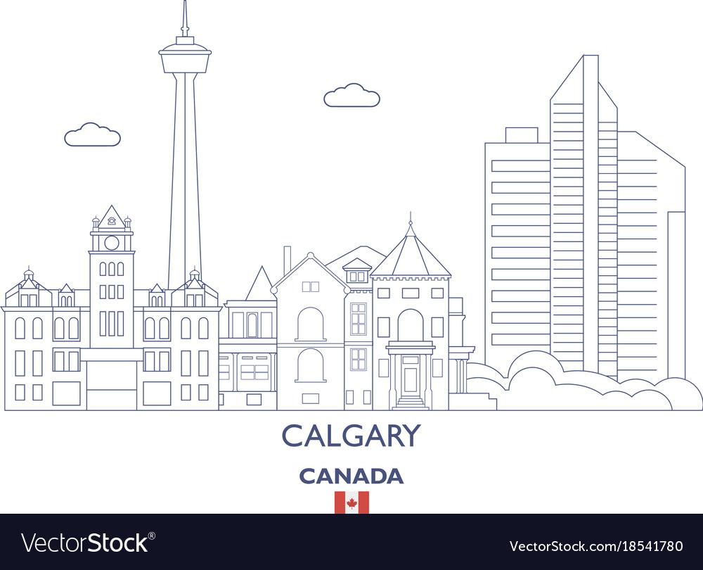 Calgary city skyline vector image