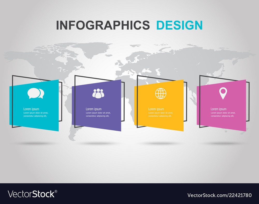 Infographic design template with flat banner