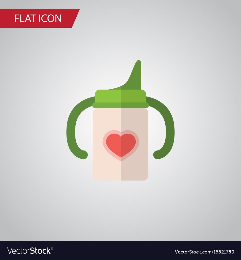 Isolated infant nutrition flat icon nursing