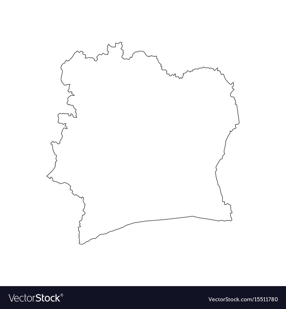 Ivory coast map Royalty Free Vector Image - VectorStock