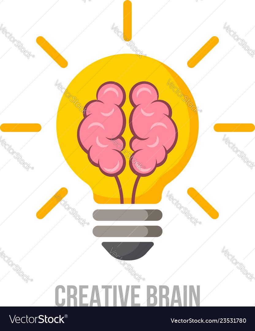 Logo brain symbol creative ideas mind