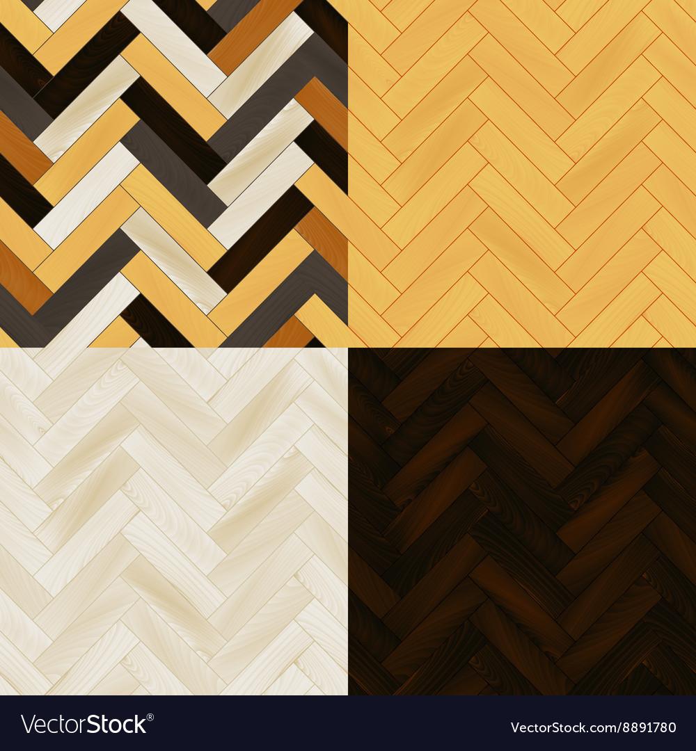 Realistic Wooden Floor Herringbone Parquet