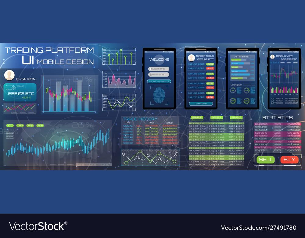 Web design template for trading platform trader