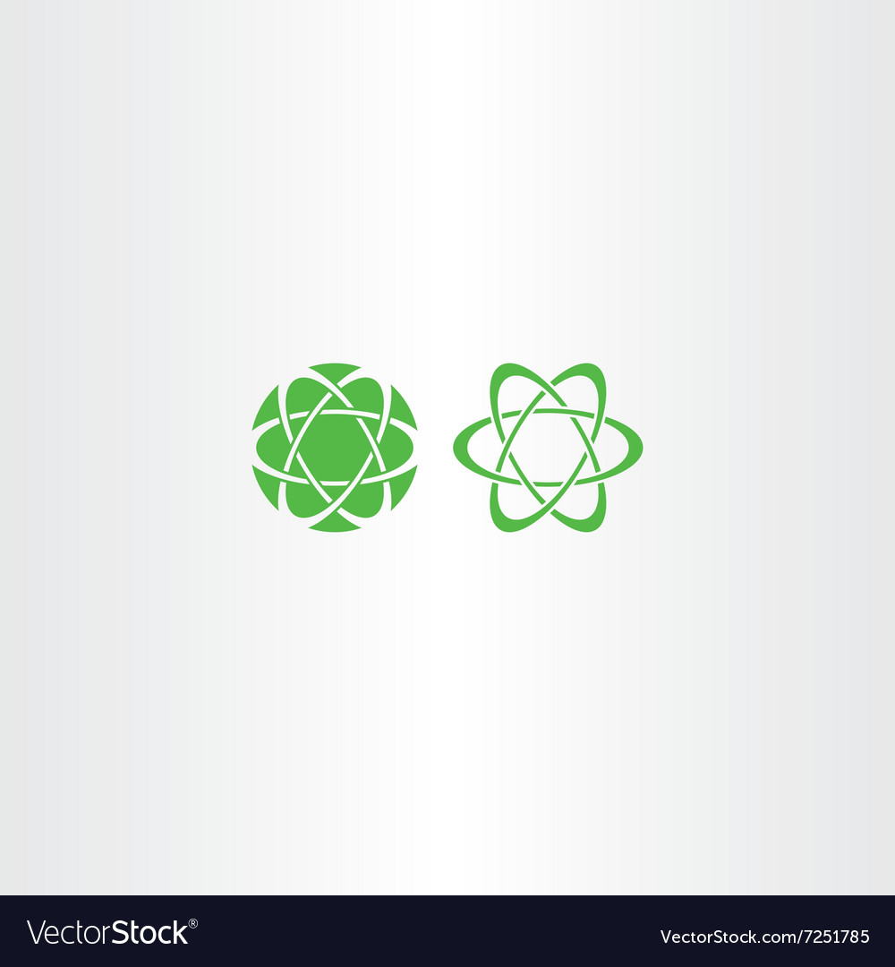 Abstract green energy science logo icon