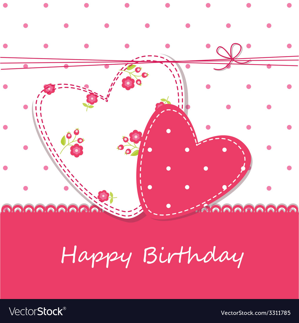 Birthday background 2 vector image