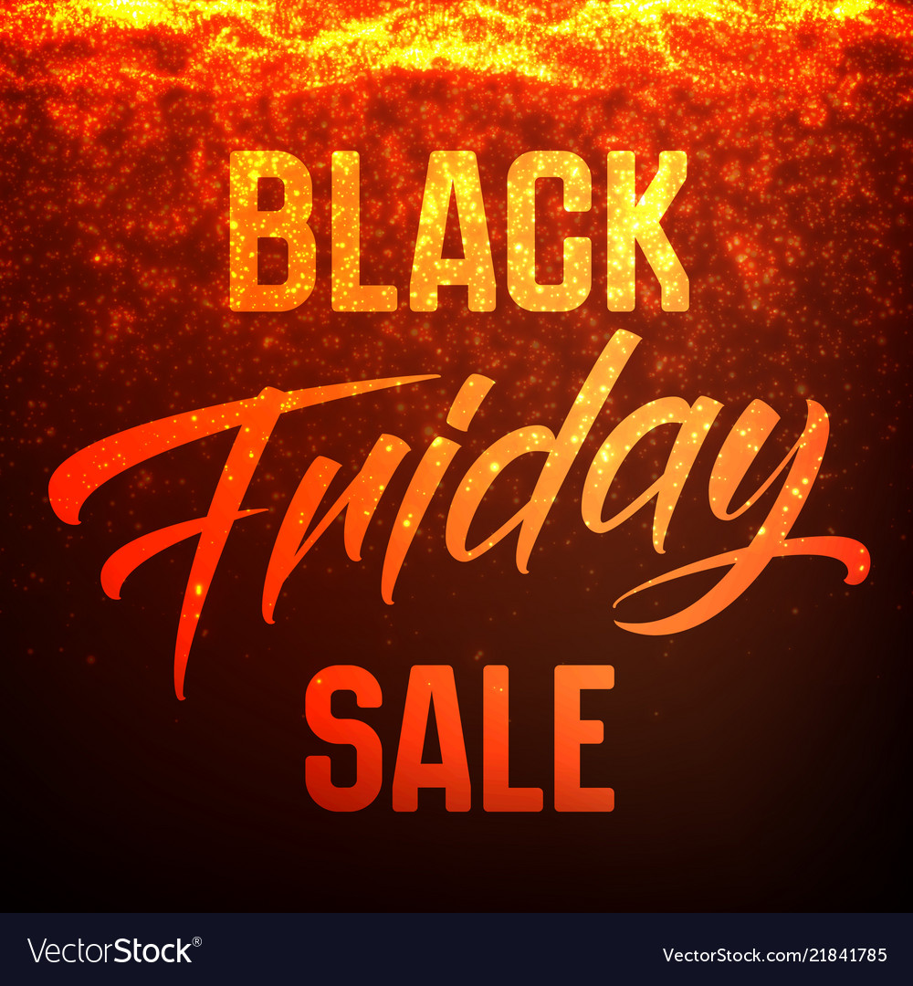 Black friday sale background with shining