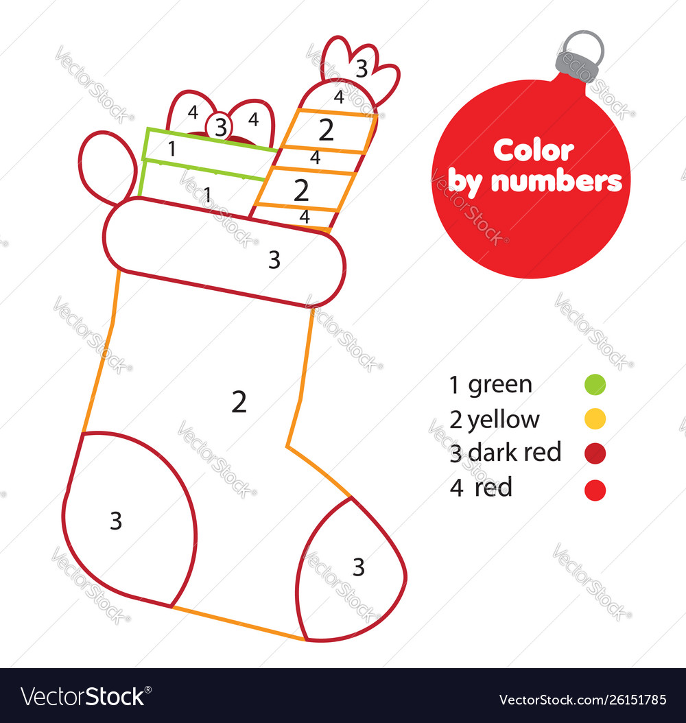 Christmas Ideas For Kids Drawing.Coloring Page With Christmas Sock Drawing Kids