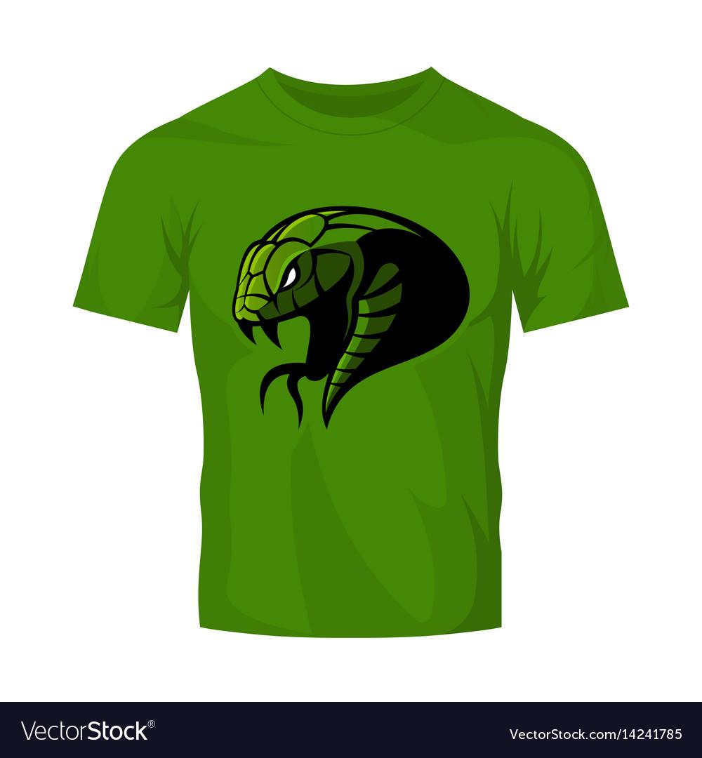Furious green snake head sport logo concept