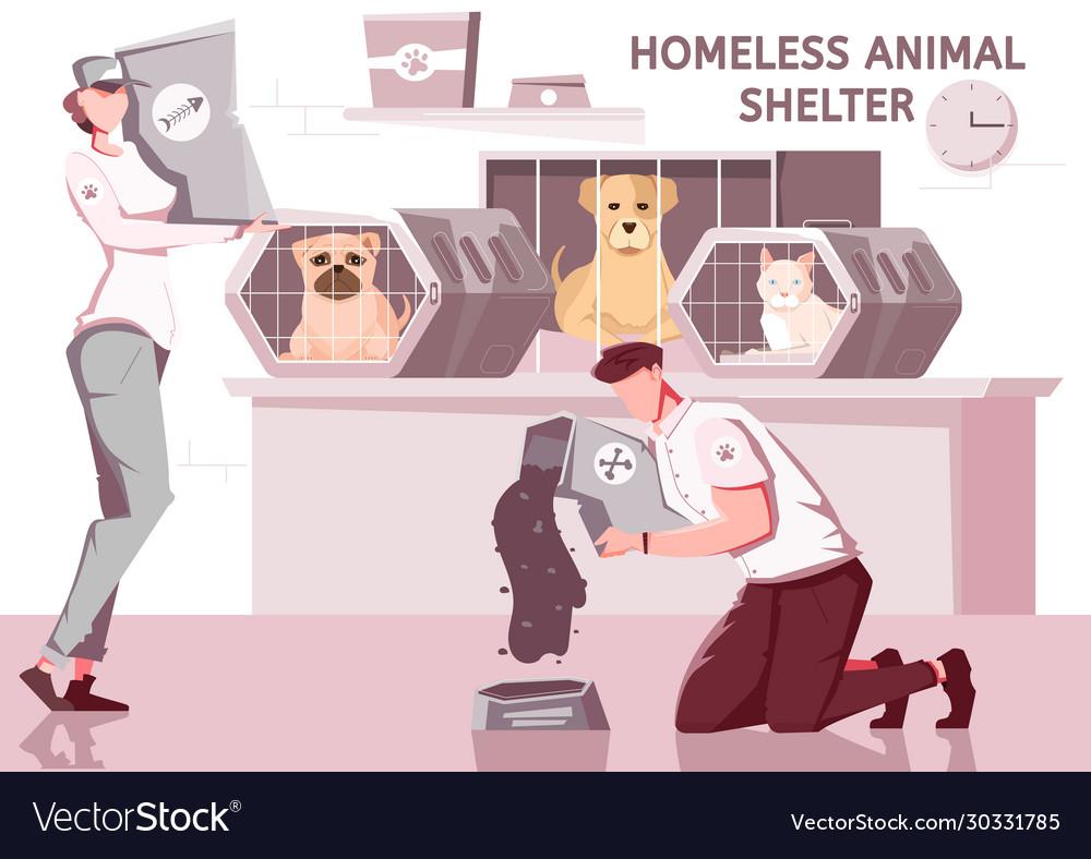 Homeless animal shelter composition