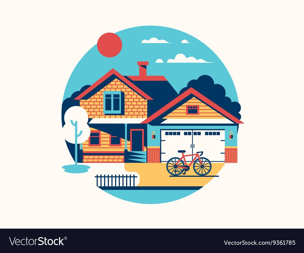 House icon isolated flat