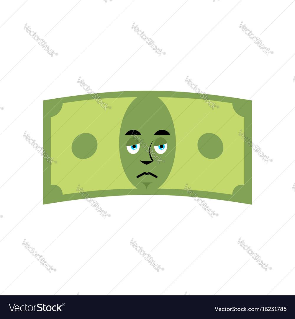 Money sad emotion cash emoji sorry dollar isolated