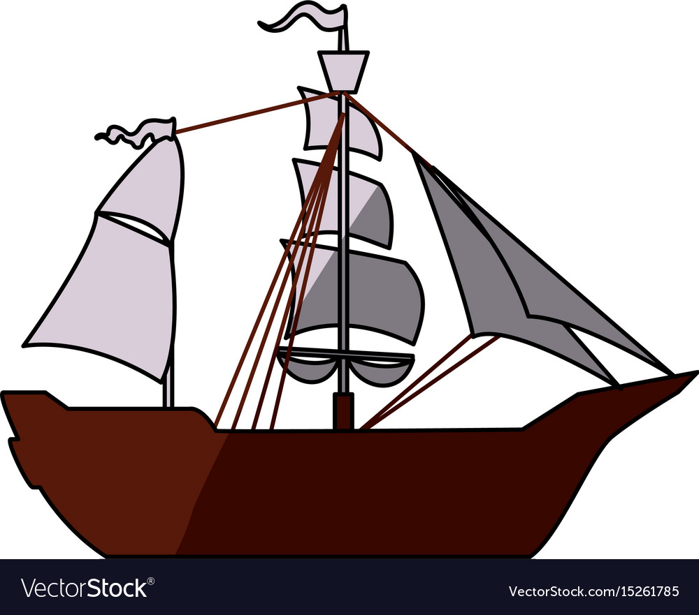 Pirate Boat Ship Royalty Free Vector Image Vectorstock Diagram With Labels Google Search Pirates Ships