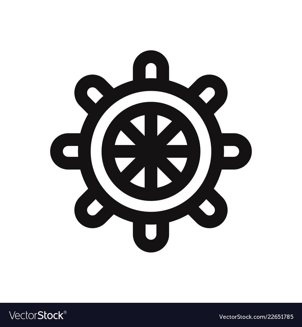 Rudder icon isolated on white background rudder