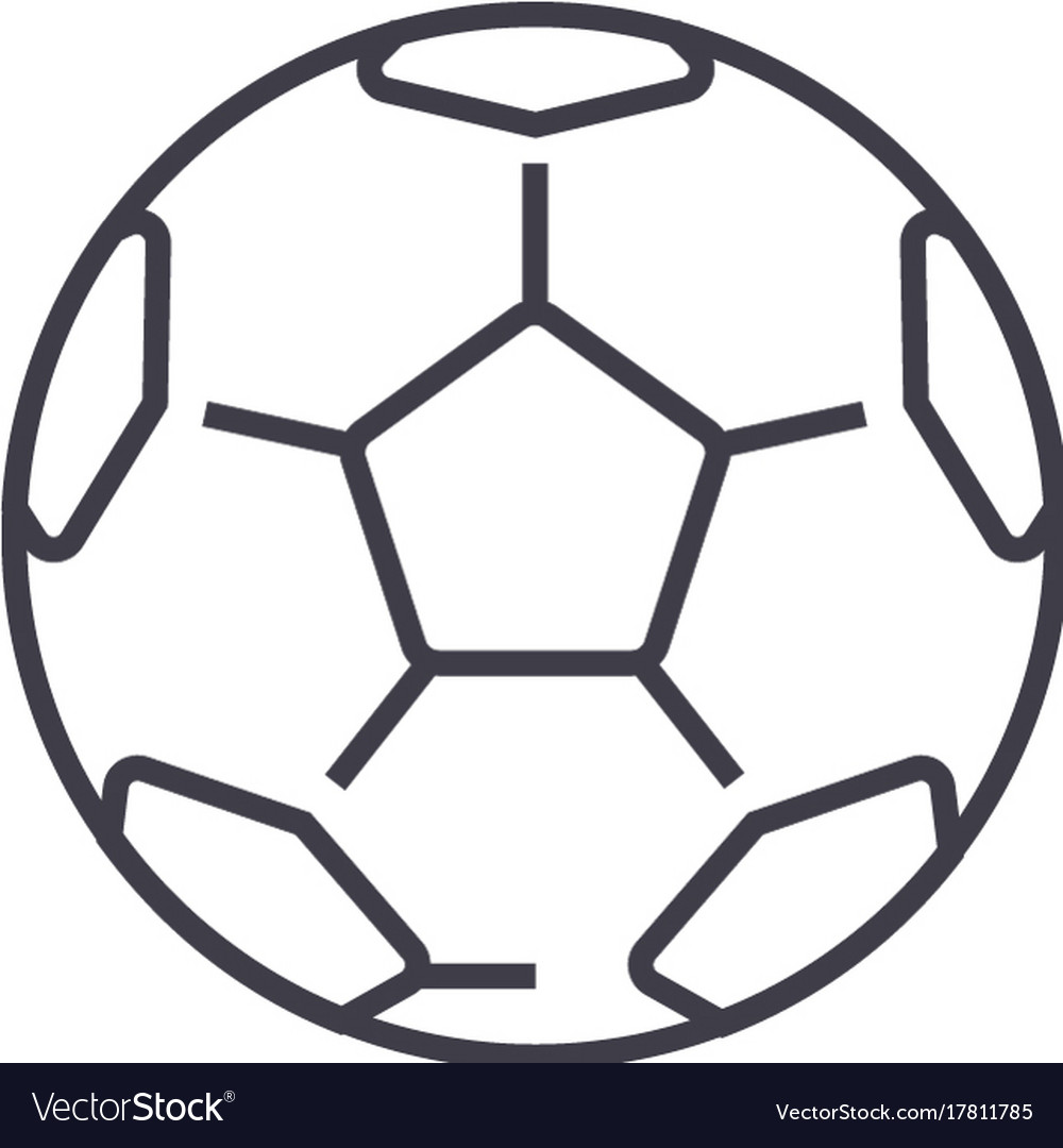 Soccer ballfootball line icon sign