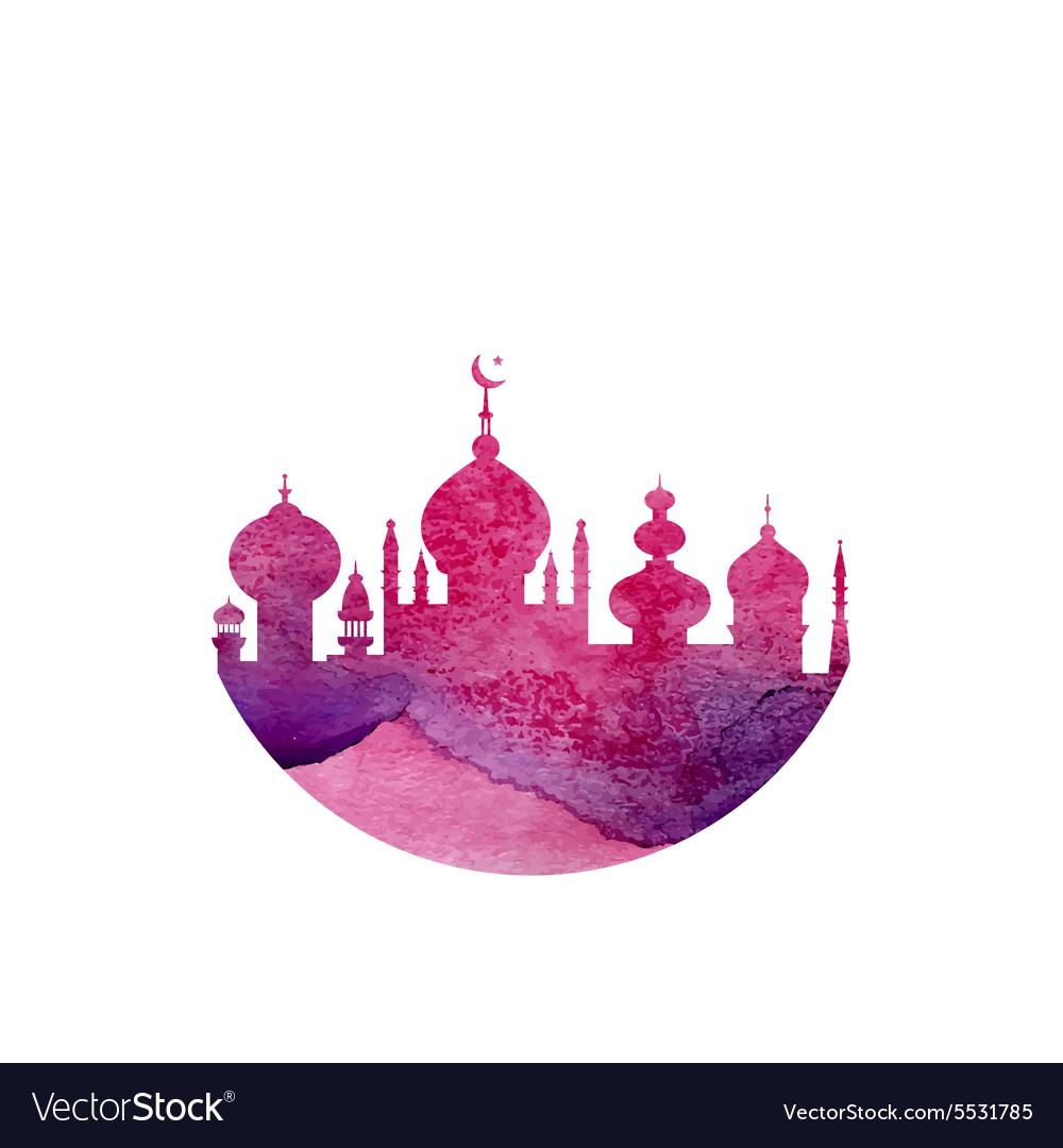 Watercolor Mosque