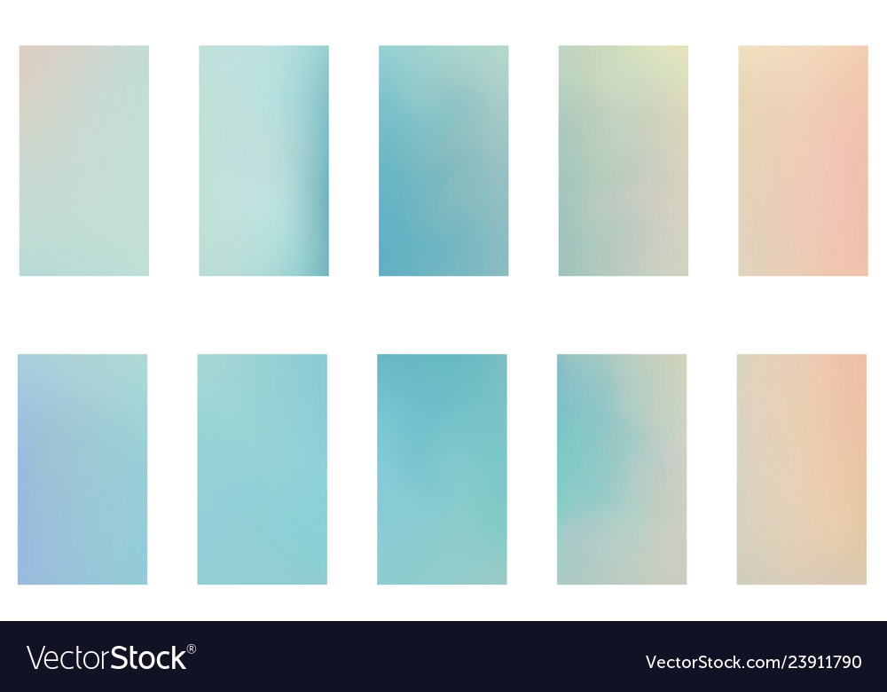 Blurred abstract backgrounds set smooth template