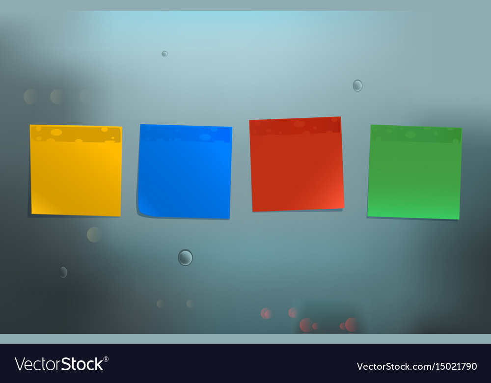 Bright stickers on blue background vector image
