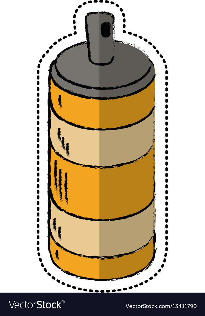 Cartoon spray can container icon