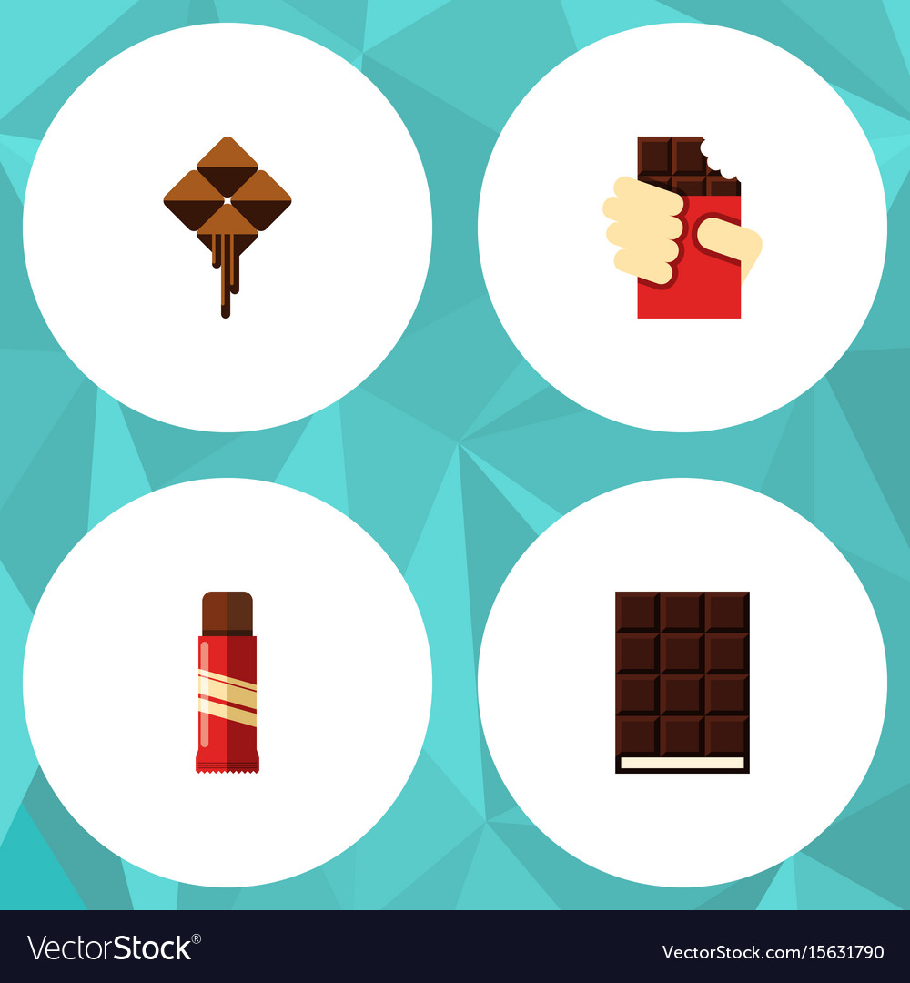 Flat icon sweet set of delicious sweet shaped